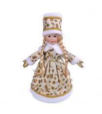 Кукла снегурочка 35 см зол Новогодняя сказка 973011