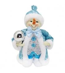 Кукла снеговик 20 см гол Новогодняя сказка 973029