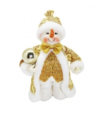 Кукла снеговик 20 см зол Новогодняя сказка 973030