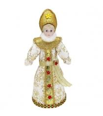 Кукла снегурочка 20 см зол Новогодняя сказка 973031