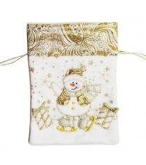 Мешок для подарка 175х24 см зол Новогодняя сказка 973033
