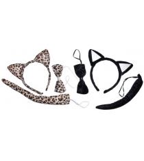 Набор аксесс кошка ободок бабочка хвостик в ассорт Новогодняя сказка 97926