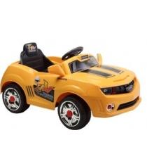 Электромобиль машина camare желтая Пламенный мотор 86098