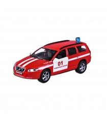 Модель автомобиля 1:36 Volvo V70 Пожарная охрана 13см Пламенный мотор 870189