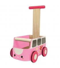 Машинка каталка Plan Toys розовая 5185