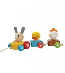 Каталка сортер Plan Toys Поезд с животными 5434