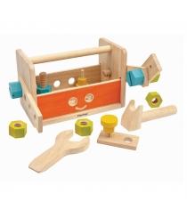 Набор инструментов Plan Toys в ящике Робот 16 предметов 5540