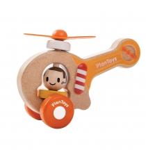 Каталка с ручкой Plan Toys Вертолет 5685