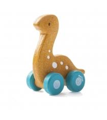 Деревянная машинка каталка Plan Toys Динозаврик 5689