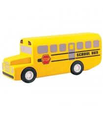 Деревянная машинка Plan Toys Город Школьный автобус 6049
