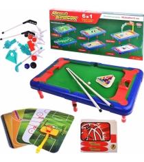 Набор настольных игр 6 в 1 меткий бросок Play Smart 2265