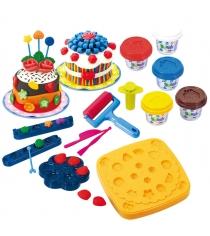 Набор с пластилином Playgo Праздничный торт Play 8205