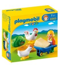 1 2 3 жена фермера с курочками Playmobil 6965pm