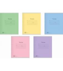 Ученическая тетрадь в клетку классика с линовкой 12 листов Полиграфика 35205