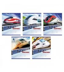 Тетрадь школьная в линейку express train 18 страниц Полиграфика 40110