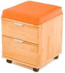 Тумба-пуфик Pondi массив бука оранжевый