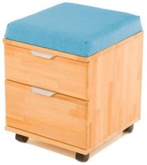 Тумба-пуфик Pondi массив бука голубой