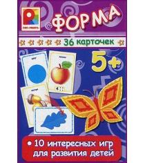 Развивающие карточки форма 36 шт Радуга С-916