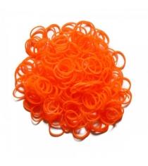 Набор гелевых резинок Rainbow Loom для плетения браслетов оранжевый 600 шт B0026