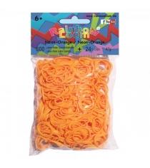 Резиночки для плетения браслетов Rainbow Loom оранжевый неон B0222