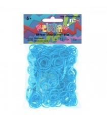 Резинки для плетения браслетов Rainbow Loom Силикон блестящие голубые B0365