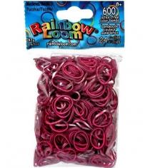 Набор резинок Rainbow Loom Средневековье для плетения браслетов фуксия 600 шт BW0066