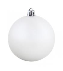 Новогоднее украшение белый шар 20 см