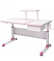 Парта трансформер Rifforma Comfort-34 розовый белый