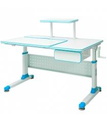 Парта трансформер Rifforma Comfort-34 голубой белый