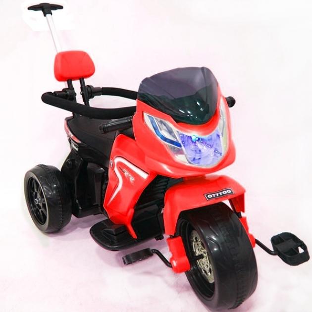 Электромотоцикл 2 в 1 красный