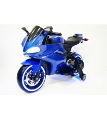 Электромобиль Мотоцикл синий