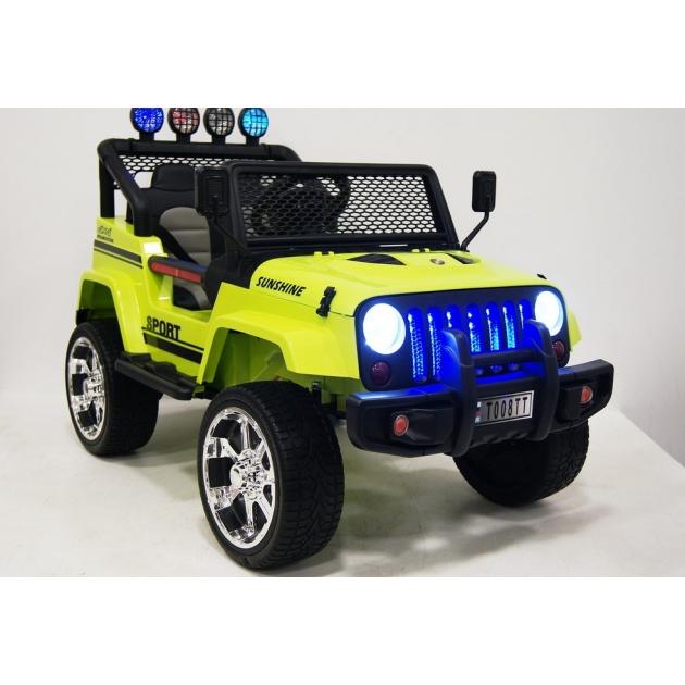 Электромобиль Jeep 4*4 зеленый