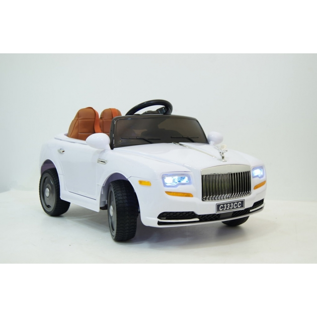 Электромобиль RollsRoyce белый