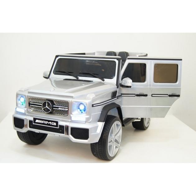 Электромобиль Mercedes-Benz серебристый глянец