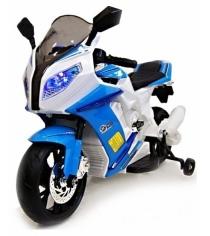 Электромобиль Moto белый синий