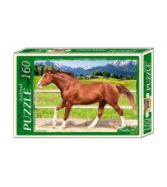 Пазлы изящная лошадь 160 элементов Рыжий кот п160-7214...