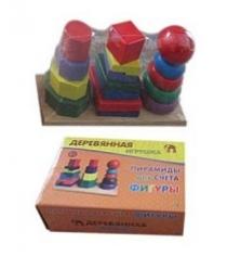 Деревянная игрушка пирамиды для счета фигуры Рыжий кот ид-7758
