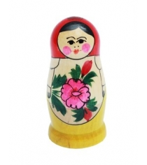 Игрушка деревянная матрешка семеновская классическая 4 х кукольная Рыжий кот ИД-6087
