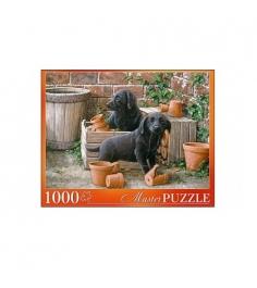 Пазл щенки черного лабрадора 1000 элементов Рыжий кот АЛМП1000-6908...