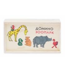 Деревянная игрушка домино зоопарк Рыжий кот ИД-7000