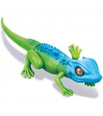 Интерактивная игрушка Robo Alive Робо ящерица сине зеленая Т10993