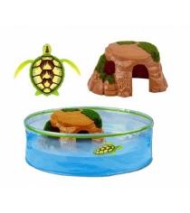Интерактивная игрушка робот ZURU РобоЧерепашка и аквариум с островом 25159