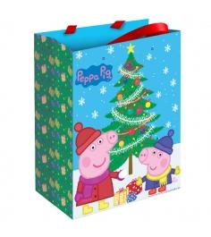 Подарочный пакет свинка пеппа пеппа зимой 23 х 18 см Росмэн 28845...
