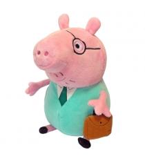 Мягкая игрушка peppa pig папа свин с кейсом 30 см Росмэн 30292