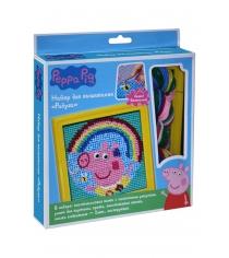 Набор для вышивания свинка пеппа радуга Росмэн 31068