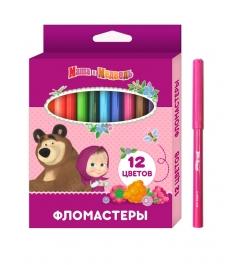 Фломастеры маша и медведь 12 цветов Росмэн 34163...