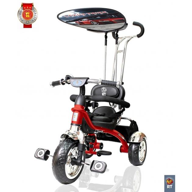 Велосипед 3х колесный grand RT print колеса eva красный 4028