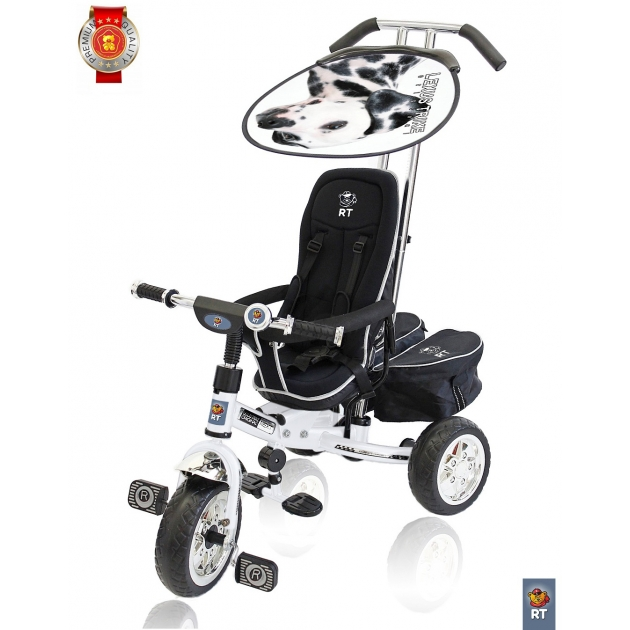 Велосипед 3х колесный deluxe RT new design 2014 белый 4032