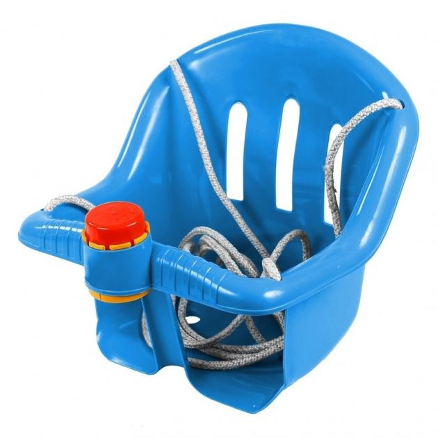 Качели с барьером безопасности RT с клаксоном синие 5282