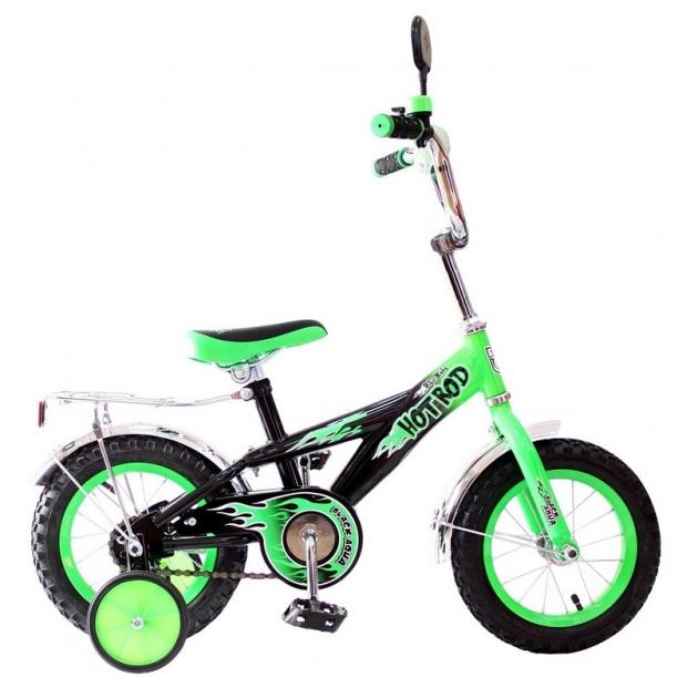 Велосипед 2х колесный RT ba hot rod 12 1s зеленый kg1206 5419